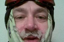 Autorův sportovní pokus. Lyžování v mrazivých Alpách.