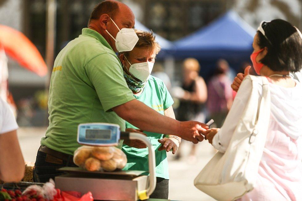 Farmářský trh v Mladé Boleslavi v pátek 4. června 2021.