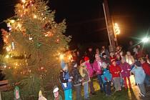 Rozsvícení vánočního stromečku v Žehrově.