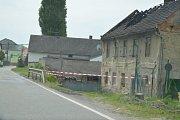 Požár rodinného domu v Brodcích.