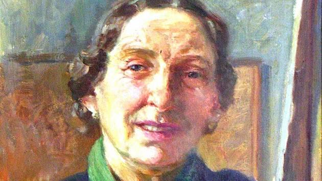 Autoportrét Boženy Vohánkové.
