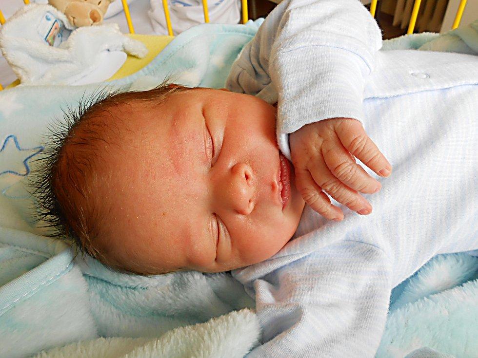 Sebastián Legner se narodil 20. dubna, vážil 4,34 kg a měřil 55 cm. Maminka Jana a tatínek Vilém si ho odvezou domů do Bakova nad Jizerou, kde už se na něho těší sestřičky Kristýna, Adriana a Barborka.
