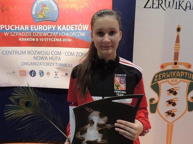 ANNA COUFALOVÁ, která vybojovala 3. místo v Polsku.