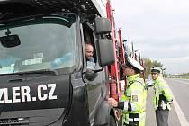 Policie se zaměřila především na kontrolu kamiónů.