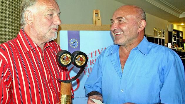 Luděk Sobota (vlevo), člen mezinárodní poroty, a Jan Kuděla, ředitel festivalu.