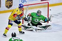 Zápas 28. kola hokejové extraligy porazila Mladá Boleslav soupeře z Českých Budějovic 5:4.