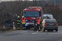 Dopravní nehoda u Mnichova Hradiště.