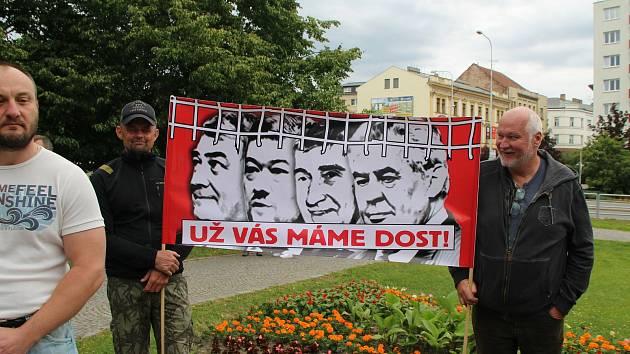Z protestu v Mladé Boleslavi 9. června 2020.