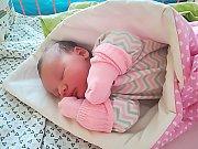 Hanička Kobáková se narodila 30. ledna, vážila 3,33 kg a měřila 49 cm. S maminkou Pavlínou a tatínkem Miroslavem bude bydlet v Mnichově Hradišti.