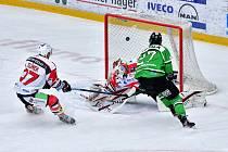 Čtvrtfinálová série Mladá Boleslav - Pardubice má za sebou dva zápasy, pokračovat bude opět v pondělí.