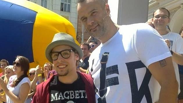 Michal Portales s porotcem Jaro Slávikem