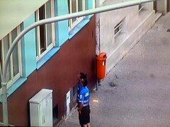 Strážníci svým mohutným hlasem zahnali dvojici dětí z otevřeného okna zpět do bytu.
