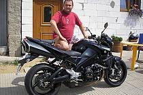Pohřešovaný motorkář a otec od rodiny Michal Minka.