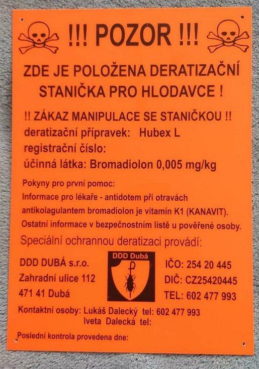 V Mladé Boleslavi provádí deratizaci.