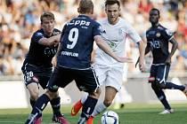 Daniel Bartl v zápase proti Strömsgodsetu