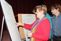 OBYVATELÉ hlasovali pro návrhy na Masarykově náměstí.