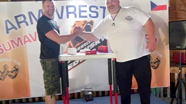 Milan Hyršal (vlevo) s Františkem Živným.