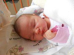 VERONIKA Ernestová se narodila 8. září, vážila 4,06 kg a měřila rovných 50 cm. S maminkou Veronikou a tatínkem Pavlem bude bydlet v Úhercích, kde už se na ni těší bráškové Pavlík a Tadeášek.