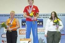 Boleslavská silačka Alena Krčmářová (vlevo) skončila na šampionátu druhá.