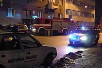 Zásah v domě na náměstí Republiky v Mladé Boleslavi, kde byl cítit plyn.