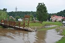 Velká voda na Podlázkách.