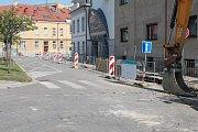 Rozkopané město Mladá Boleslav.