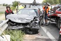 Nehoda tří aut - Židněves, kolaps dopravy