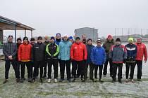 Silvestrovský běh a fotbálek ve Dlouhé Lhotě