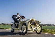 Škoda Muzeum představuje sportovní vůz z roku 1908.