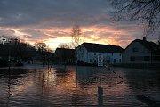 Povodně v Mohelnici.