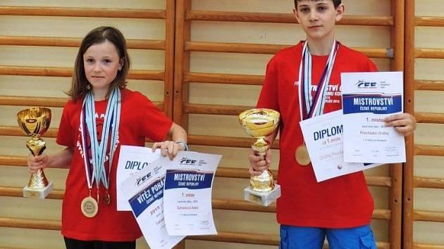 OCENĚNÍ. Adéla Šafránková a Ondřej Procházka