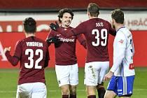 Sparta Praha doma porazila Mladou Boleslav těsně 1:0.