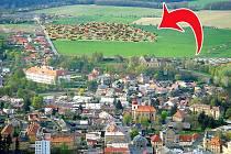 NOVÉ MNICHOVO HRADIŠTĚ. Vizualizace ukazuje, o jak velkou plochu se rozroste městečko na Mladoboleslavsku.