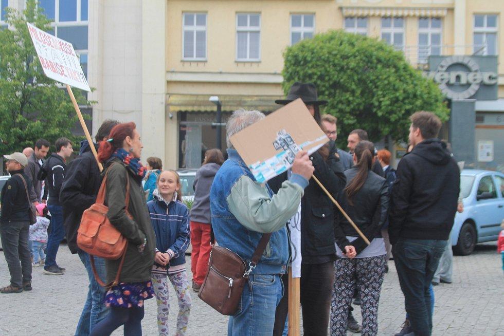 Boleslavané demonstrovali proti premiérovi Andreji Babišovi.