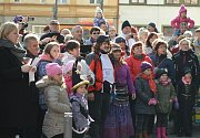 MASOPUSTNÍ REJ nechyběl o víkendu ani v Bělé pod Bezdězem.