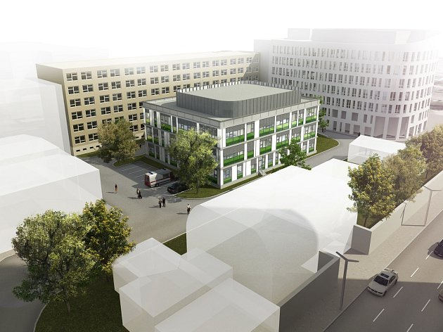 Budoucí podoba pavilonu onkologie Klaudiánovy nemocnice