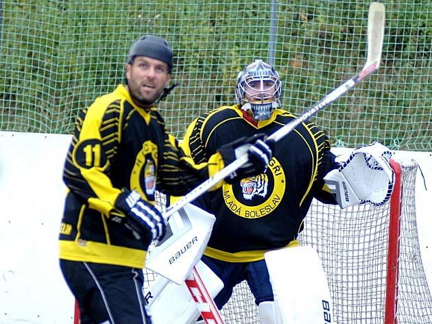 I. hokejbalová liga: Karlovy Vary - Tygři Mladá Boleslav