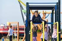 Z otevření dětských a workoutových hřišť v Kolomutech