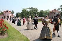 Zahradní slavnost k poctě Albrechta z Valdštejna.