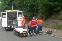 Dopravní nehoda v Laurinově ulici