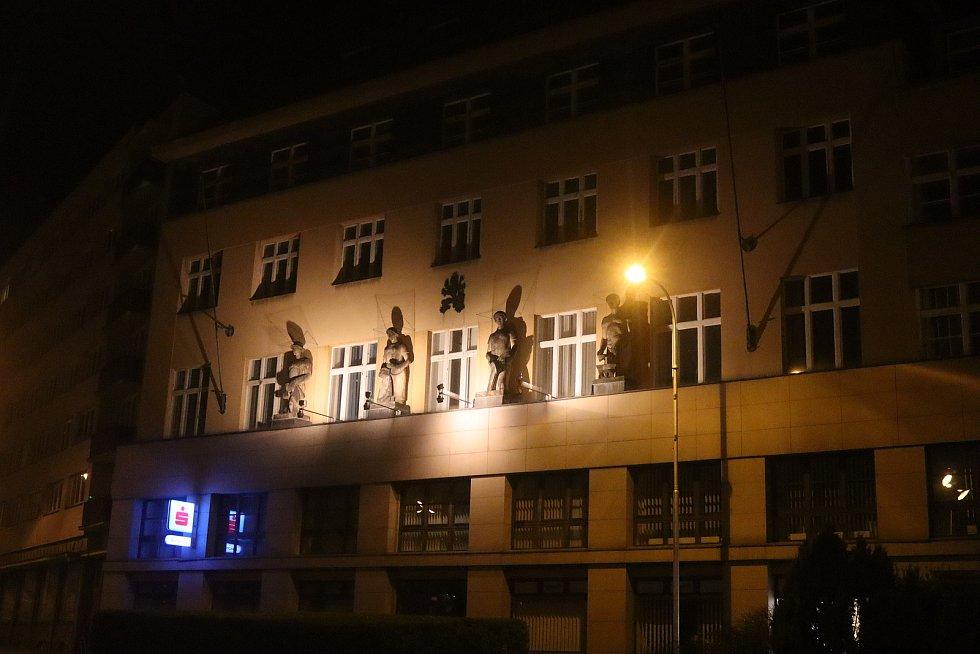 Noční Mladá Boleslav- Staré město.
