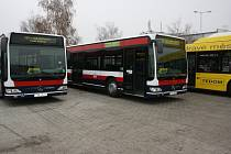 Autobusy městské autobusové dopravy Mladá Boleslav.