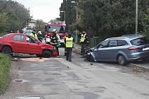 Nehoda na výjezdu z Jiviny na Mnichovo Hradiště.