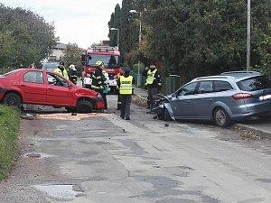 Nehoda na výjezdu z Jiviny na Mnichovo Hradiště