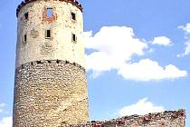 Zřícenina hradu Zvířetice.