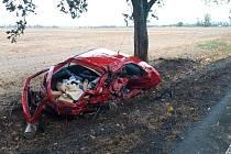 Dopravní nehoda u Kropáčovy Vrutice.
