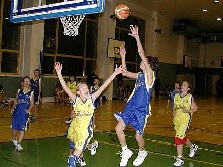 Basketbalová přípravka Auto Škody v akci