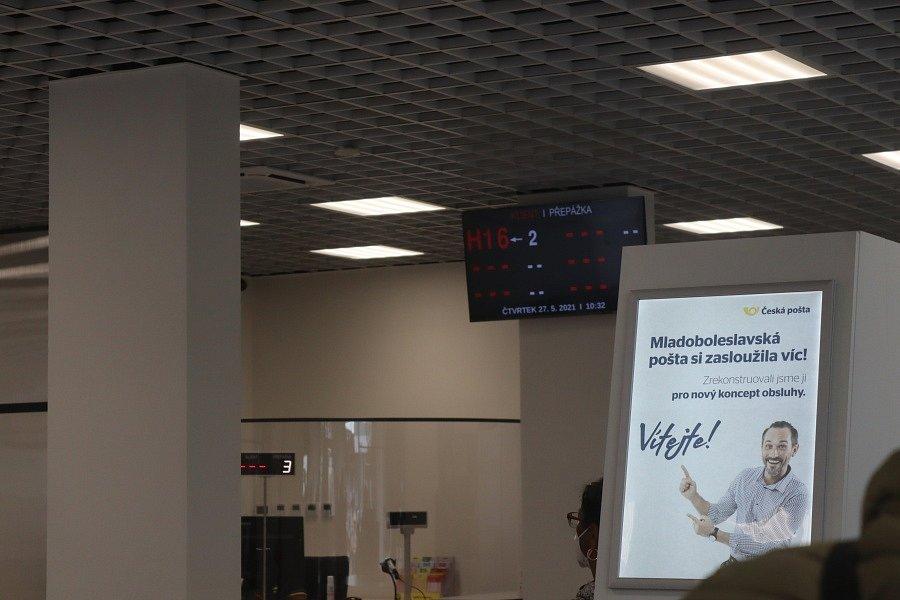 Znovu otevření pobočky České pošty na třídě Václava Klementa v Mladé Boleslavi.