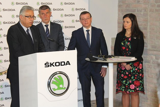 Andrej Babiš navštívil automobilku Škoda Auto.