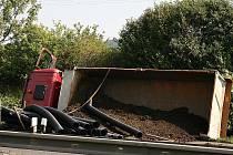 Dopravní nehoda nákladního vozu a osobního vozu zároveň na R10 u Mladé Boleslavi